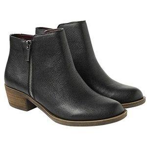 NEW Kensie Black Leather Ankle Booties